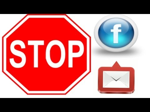 Facebook Tutorial - How To Disable Facebook Email Notifications