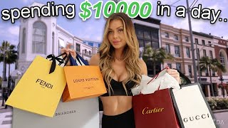 spending $10,000 in a day..