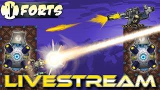 Enjoying The Latest DLC (Community Games Live) - Forts RTS - Livestream