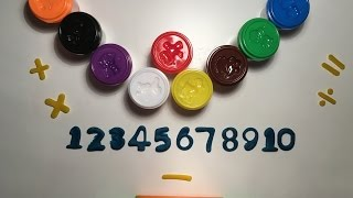 Play Doh Back To School Playset Learn Shapes & Numbers 123 with PlayDough