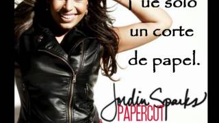 Papercut - Jordin Sparks (español)