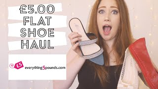 EVERYTHING5POUNDS FLAT SHOE HAUL | £5 LOW HEEL SHOES | EXTRA SHOE HAUL