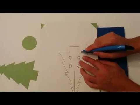 Video DIY Cara membuat kertas Natal pohon