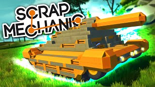 Scrap Mechanic CREATIONS - AMAZING TANK with Interior and Cannon! - Scrap Mechanic Gameplay