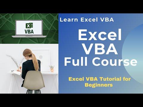Excel VBA Full Course | Excel VBA Tutorial For Beginners | Learn ...