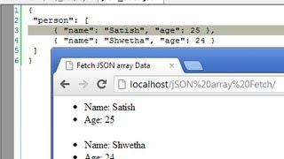 Fetch JSON Array Elements Using jQuery AJAX Method: getJSON