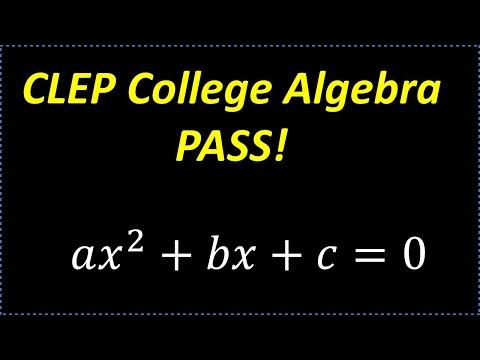 CLEP College Algebra - YouTube