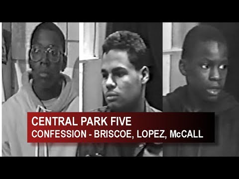 CENTRAL PARK FIVE - FULL CONFESSIONS -  STEVE LOPEZ,  MICHEAL BRISCOE,  LAMONT McCALL (PART 1 OF 2)