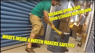 Breaking In To A Locked Safe From A Storage Auction! WHAT IS INSIDE???