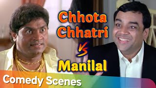छोटा चत्री V / S मणिलाल   Movie Awara Paagal Deewana   Paresh Rawal - Johnny Lever - Akshay Kumar