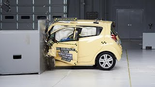 2013 Chevrolet Spark driver-side small overlap IIHS crash test