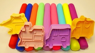 Пластилин Плей до Учим Цвета Учим Машинки Для детей Лепим Машина Паровозик Вертолет Скорая помощь
