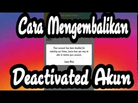 """Video Mengembalikan Akun Instagram """"Deactivated atau Hack"""""""