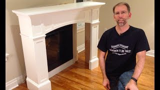 How to Install a Fireplace Mantel (woodworking plans available)