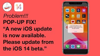 iOS 14.2 Beta 4 POP-UP PROBLEM + FIX! new iOS update is now available  Please update from the iOS 14