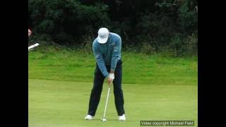 Ernie Els Golf Swing - Medium Iron (face-on), July 2016