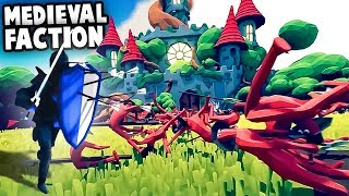 NEW TABS Medieval Faction, Castles & KNIGHTS!  (Totally Accurate Battle Simulator Gameplay)