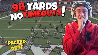 DOWN BY 7, NO TIMEOUTS, 1 MINUTE LEFT, 98 YARDS TO GO!! Madden 17 Packed Out Ep.3