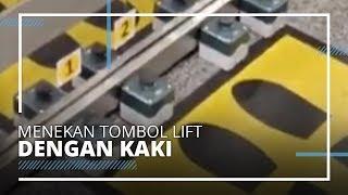 Tombol Lift di Terminal 2 Bandara Soekarno Hatta Bisa Ditekan Pakai Kaki