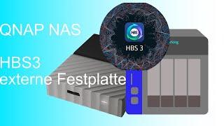 HBS3 Backup auf externe Festplatte QNAP Tutorial #4.1 deutsch 2020
