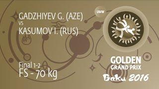 GOLD FS - 70 kg: I. KASUMOV (RUS) df. G. GADZHIYEV (AZE), 3-2