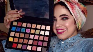 ميكاب خطوبة بجليتر وردى بروبروق🖤| Pink Glittery Engagement Makeup |Character Eyeshadow Palette