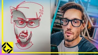 Can You Draw Someone Without Looking Challenge