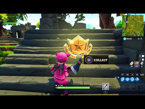 """Follow the treasure map found in Dusty Divot"" LOCATION FORTNITE SEASON 5 WEEK 7 BATTLE STAR"