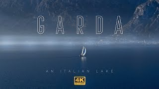 Lake Garda, Italy In Winter. Aerial 4K Drone Video Of The Famous Lake