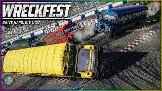 School Bus Obliteration!   Wreckfest   Figure 8 - Demo Derby