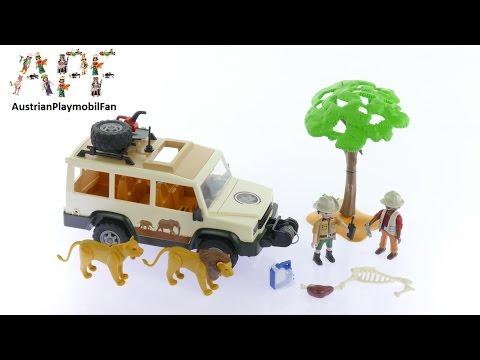 Vidéo PLAYMOBIL Wild Life 6798 : Aventuriers avec 4x4 et couple de lions