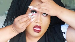 HOW TO PUT IN CONTACTS WITH LONG NAILS   PatrickStarrr