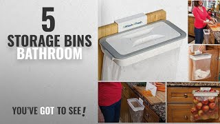 Top 10 Storage Bins Bathroom [2018]: CONNECTWIDE® Attach-A-Trash The Hanging Trash Bag Holder-
