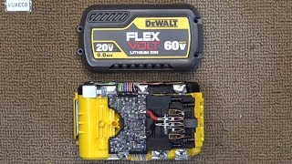 Dewalt Flexvolt 60V 9Ah battery teardown & analysis: From 20V to 60V, How does it work?