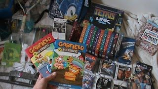 Garage Sale Finds!! Sega Dreamcast Games, Garfield DVD's and Back To The Future VHS Tapes!!