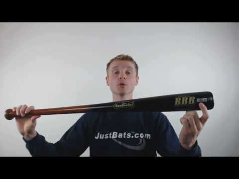 BamBooBat Bamboo Wood Baseball Bat: HGBB100D Brown / Black