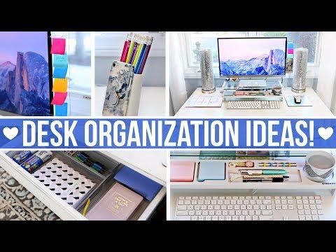 DESK & OFFICE ORGANIZATION IDEAS!