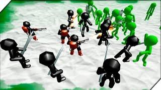 ЗОМБИ ПРОТИВ РОБОТОВ - Игра Stickman Simulator  Zombie Battle Андроид игры про зомби и стекменов