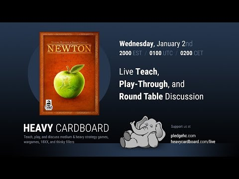 Newton 4p Teaching, Play-through, & Round table discussion by Heavy Cardboard