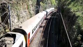 preview picture of video 'CFL 3002 leaving Luxembourg with IR train to Liège (Belgium) (2012-04-29).mp4'