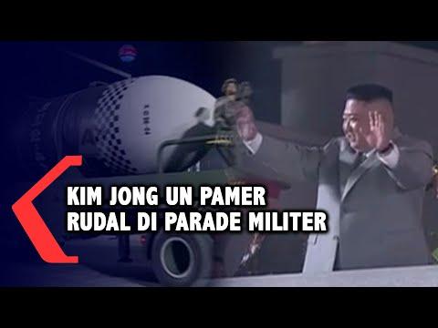 kim jong un pamer rudal dan senjata baru di parade militer korea utara