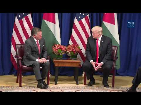 President Trump Participates in an Expanded Meeting with the King of Jordan