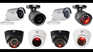 MX Dummy CCTV Bullet Dome Fake Camera Battery Powered Cheapest Security IR Led camera Surveillance