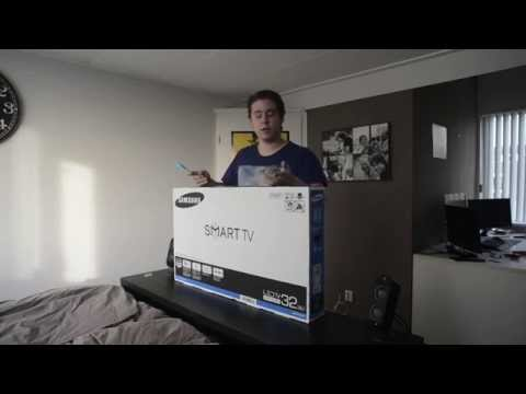 Samsung J5500 series smart tv unboxing & review