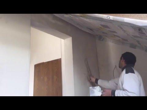 Wände absolut gerade verspachteln mit flächenspachtel (gebogen)