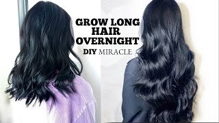 HAIR GROWTH SECRET | HOW TO GROW LONGER THICKER HAIR OVERNIGHT [DIY] + Naturally Stop Hair Loss Fast