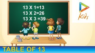 Learn 13 Time Tables | Easy ways To Learn Multiplication | Hungama Kids