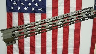 """Midwest Industries AR15 Lightweight 15"""" free float handguard Review & Install"""