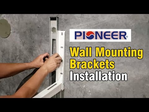 Pioneer Outdoor Wall Mounting Brackets Installation