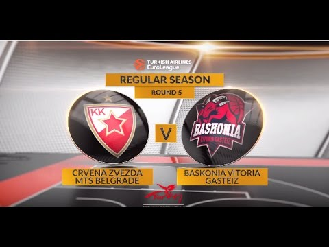 EuroLeague Highlights RS Round 5: Crvena Zvezda mts Belgrade 63-70 Baskonia Vitoria Gasteiz